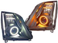 08-14 Cadillac CTS Custom Switchback Retrofit Black Headlights