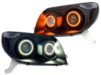 03-05 Toyota 4Runner Quad LED Projector Retrofit Halo Headlights