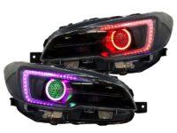 2018+ Subaru STi RGBW Led Black Retrofit Headlights