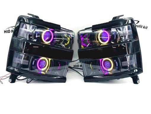 15-19 Chevrolet Silverado 2500HD Led Halo Projector Headlights