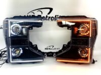 2020+ Ford F250 F350 Superduty Switchback LED Custom Black projector Retrofit Headlights