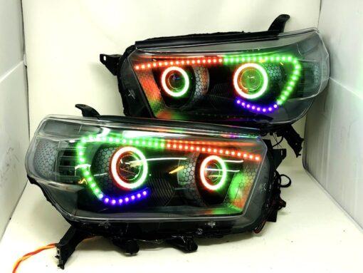 2010-13 Toyota 4Runner SR5 RGB Angry LED Headlights