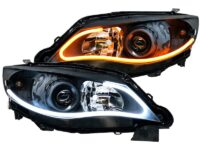 08-14 Subaru Impreza WRX / Outback LED DRL Black HID Retrofit Kit Headlights