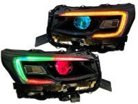 2020-2021 Subaru Legacy Outback Black Headlights with RGBW Led DRLS