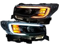 2020-2021 Subaru Legacy Outback Black Headlights with Switchback LED DRL
