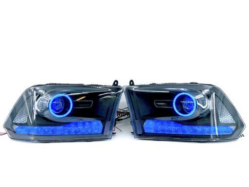 09-18 RAM 1500 RGBW Custom HID Retrofit Kit Headlights