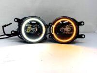 Black Projector Retrofit LED Fog Lights Switchback Halo Lights