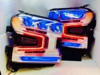 2019-2021 Chevrolet Silverado 1500 Custom Retrofit Color-Shift LED Headlights