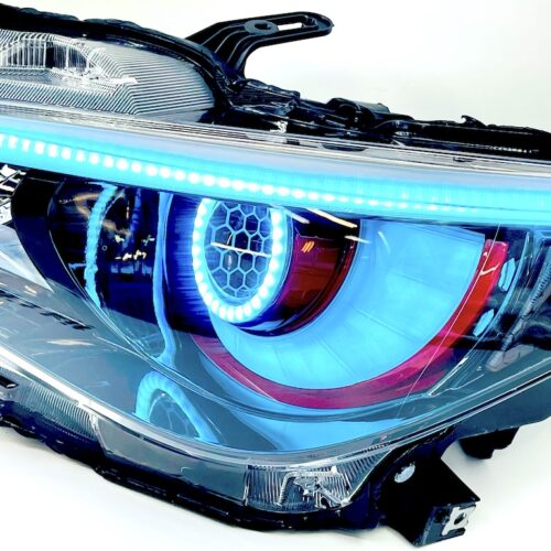 14-17 Infinity Q50 Custom Retrofit Led RGB Halo Headlights