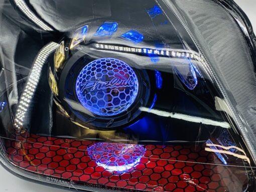 97-01 Honda Prelude Custom Retrofit Projector Halo Headlights
