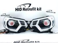12-15 Toyota Tacoma TRD RGBW Demon Eyes Switchback LED Halo Retrofit Headlights