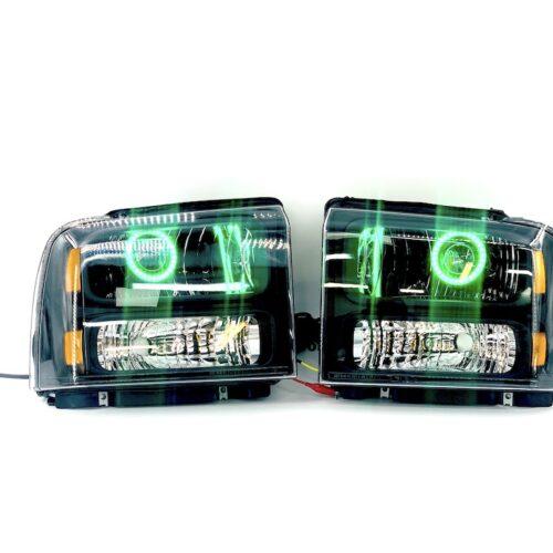 05-07 Ford F250 F350 Custom Bi-LED Projector RGBW Led Headlights